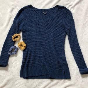 Deep blue knit sweater